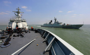 East Sea Fleet conducts live-ammunition firing drill