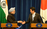 Japan, India PMs attend joint press conference