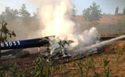 Police helicopter crash kills 2 in NW China