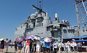 China, U.S. naval ships open to public