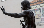 Los Angeles' Chinatown sets up statue of Bruce Lee