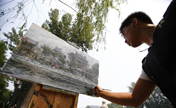 Memorize the old Beijing with painting brush