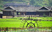 Scenery of stilted houses of Tujia ethnic group