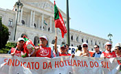 Protests staged against austerity in Portugal