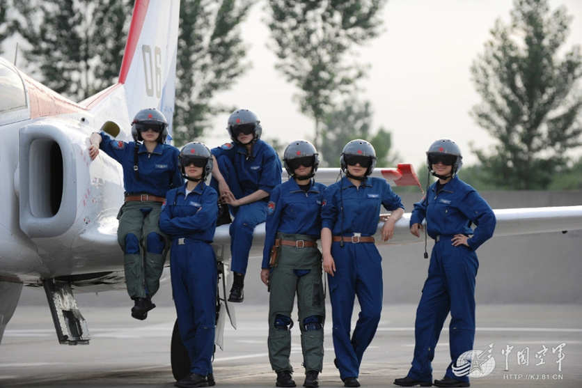 PLAAF's first-batch of female fighter pilots with double ...