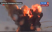 Russian rocket explodes after liftoff