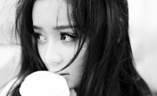 Yuan Shanshan in black and white photos