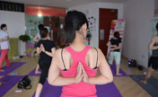 Hot yoga practiced in Nanchang