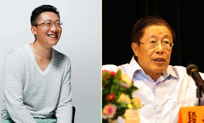 Duan Liuwen (L)  and his father DuanYongji (File Photo)