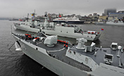 Chinese, Russian naval forces leave for drill