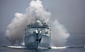 Chinese, Russian naval forces in actual-troop drill