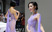Model poses at Changchun auto show