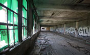 Snapshots of abandoned auto factory in Detroit