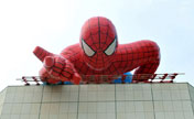 20-meter-long Spider-man  seen on roof in Jiangxi