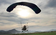 Paramotors used to spray pesticide in Duchang