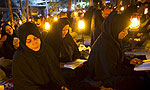 Muslims pray during religious ceremony of Ramadan in Iran