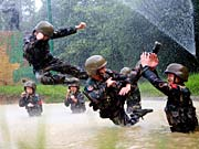 Tough training of PLA special forces