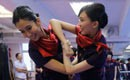 Hong Kong Airlines stewardesses learn Wing Chun kung fu