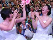 Collective wedding ceremony for 'Beijing drifters'