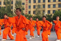 Kung Fu soccer team trains at Songshan Shaolin training base