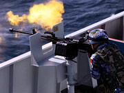 15th Chinese naval escort taskforce conducts live-fire training