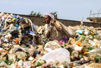Mountain of garbage in Nairobi