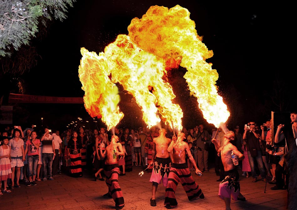 Torch Festival in Yunnan, SW China