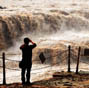 Scenery of Hukou Waterfall of Yellow River