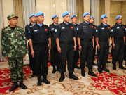 China's police squad to leave for Liberia for UN peacekeeping missions