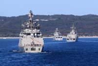 11 countries' warships arrive at Jervis Bay for security exercise