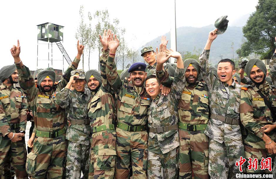 China-India joint anti-terrorism military training concluded