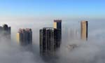 Splendid views of cities blanketed with fog