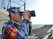 China's aircraft carrier carrys out 1st docking manoeuver in Sanya