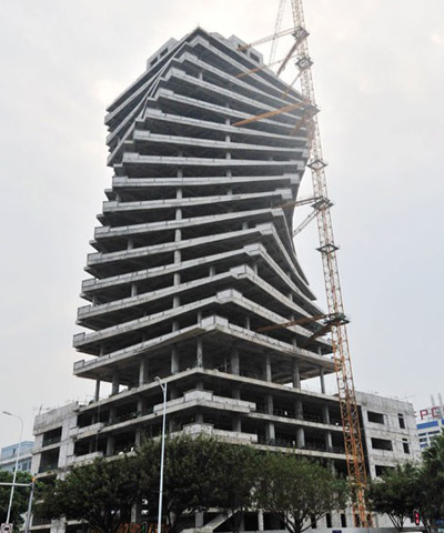 Twisted Building In Xiamen Photo CNS