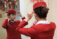 Bullet train attendants' Christmas Eve