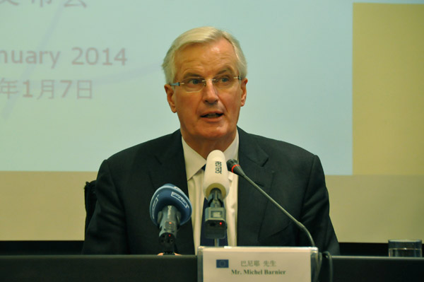 Barnier: China, EU should travel side by side on the road of reform