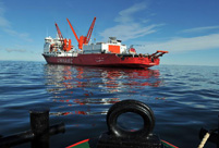 Xuelong carries on mission after breaking from floes