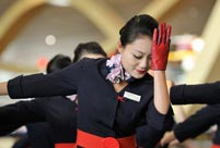 Airline crew stage flashmob dance at Kunming airport