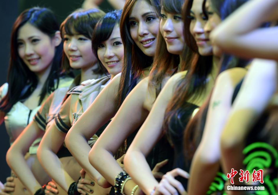 a group of models show at the taipei game show 2014 jan 23 2014 the taipei game show tgs is the only game show in taiwan the show this year will last