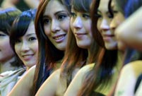 Sexy models at Taipei Game Show 2014