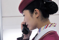 A day of a female high-speed train chief attendant