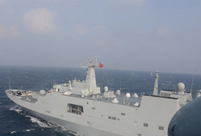 PLA navy conducts landing drills in South China Sea