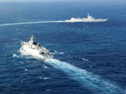 PLA Navy conducts confrontation training in Indian Ocean, the Pacific