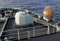 Chinese ship formation conducts live fire training in West Pacific