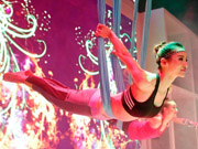 Shanghai women fall in love with Aerial Yoga
