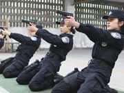 Female SWAT team in Chongqing