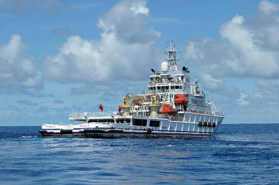 Five Chinese vessels reach MH370 search area in S. Indian Ocean