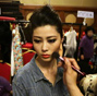 Backstage at China Fashion Week
