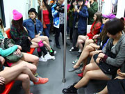 'No-pants' ride in Harbin
