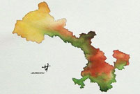 Hand-painted maps go viral online; painter's name remains unknown